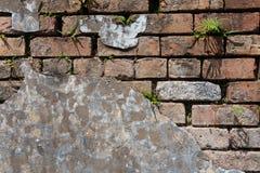 被修补的Brickwall 3 库存照片