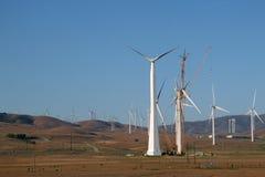 被修造的电子风车 库存图片