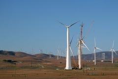 被修造的电子风车 免版税图库摄影