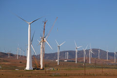 被修造的电子风车 免版税库存图片