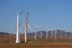 被修造的电子风车 图库摄影