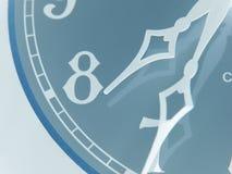 被倒置的古色古香的时钟 库存图片