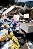 被倾销的heapes废物 库存照片
