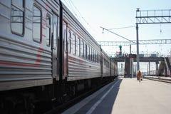 被停止的火车 免版税库存照片