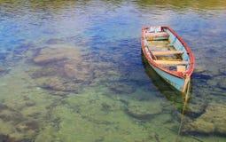 被停泊的渔船 库存照片