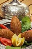 被充塞的丸子,传统土耳其食物 免版税库存图片