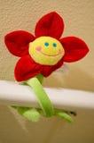 被充塞的动画片微笑的向日葵 免版税库存图片