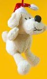 被充塞的圣诞节小狗 免版税图库摄影