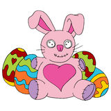 被充塞的复活节兔子玩具 库存照片