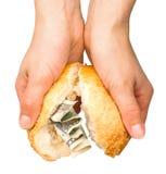 被充塞的小圆面包货币 库存照片