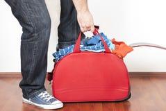 被充塞的手提箱 库存照片