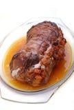 被充塞的肉卷 免版税库存图片