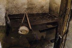 被充斥的地下室 免版税库存图片