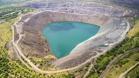 被充斥的猎物采矿穿戴的猎物鸟瞰图被充斥 免版税库存图片