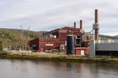被关闭的奥尔布赖特煤电发电站 图库摄影