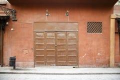 被关闭的折叠门 免版税库存照片