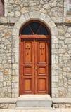 被关闭的教会门 库存图片