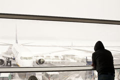 被关闭的机场 库存图片