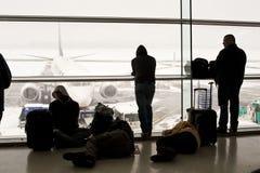 被关闭的机场 图库摄影