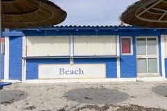 被关闭的海滩棒 免版税库存照片