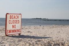 被关闭的海滩 库存照片