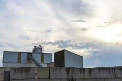 被关闭的被放弃的工厂 库存照片