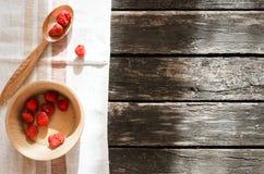 被冰冻干燥的草莓 免版税库存照片