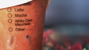 被冰的咖啡或牛奶茶 免版税库存图片