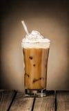 被冰的咖啡浮游物或奶昔 免版税库存图片