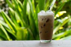 被冰的咖啡用牛奶 免版税库存图片