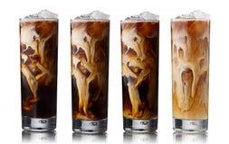 被冰的咖啡集合 免版税图库摄影