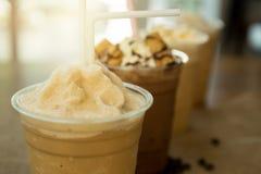 被冰的咖啡frappe去玻璃 免版税库存照片