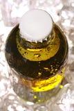 被冰的啤酒瓶寒冷 图库摄影