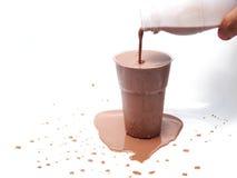 被冰的巧克力牛奶 库存照片