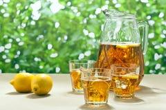 被冰的柠檬冰茶 免版税库存照片