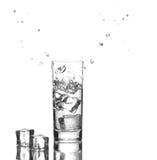 被冰的水 免版税库存照片