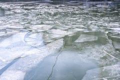 被冰的河 免版税图库摄影