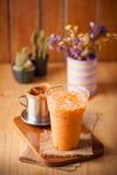 被冰的泰国牛奶茶 库存照片