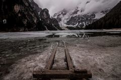 被冰的湖 库存照片