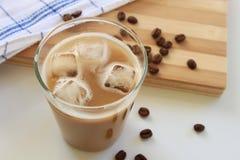被冰的牛奶咖啡 库存照片