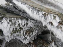 被冰的石头 库存图片