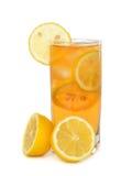 被冰的茶用柠檬 库存图片