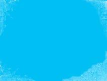 被冰的蓝色抽象背景 免版税库存照片