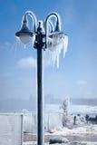 被冰的闪亮指示街道 免版税图库摄影