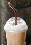 被冰的cappuchino咖啡 库存图片