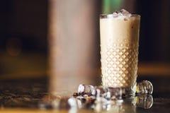 被冰的frappe饮料 免版税库存图片