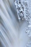 被冰的Orangeville小河小瀑布 免版税库存图片