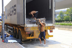被冷藏的容器搬运工 免版税库存图片