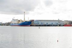 被冷藏的货船波罗地石南花 库存图片