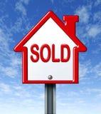 被出售的家庭符号 向量例证